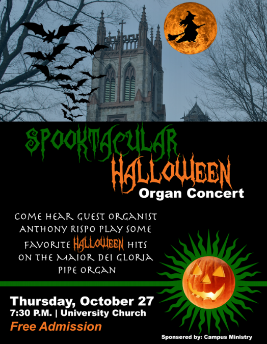 Halloween Organ Concert Flyer